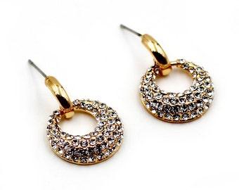 Fashion Circle crystal earrings