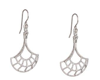 Silver Dangle Earrings - Dainty Dangle Earrings - Everyday Earrings - Gift for her - Handmade jewelry