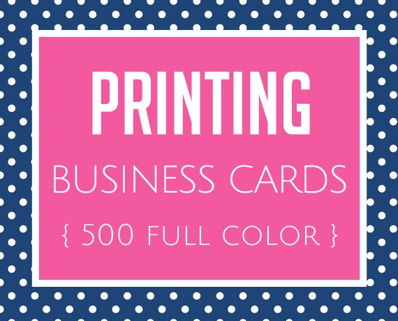 Printing Business Cards Set Of 500 Full Color By