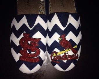 Hand painted St. Louis Cardinals shoes