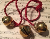 Bells, Jingle Bells, Brass Finish, Craft Supply, Decoration, Mixed Media, Metal Finding, 3D Collage Supply, Old Fashion, Holiday Find (S) ok