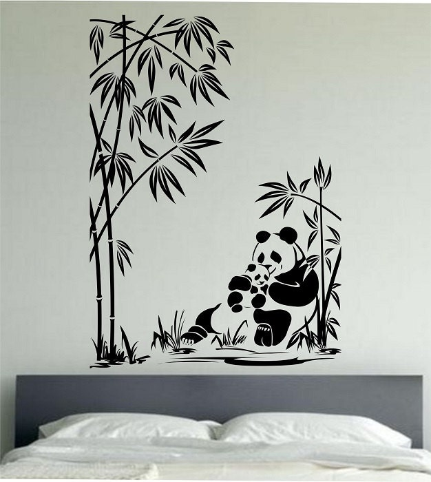 Divine Design Wall Decals : Panda wall decal family sticker art decor by
