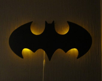 Batman Logo Wall hanging night lamp