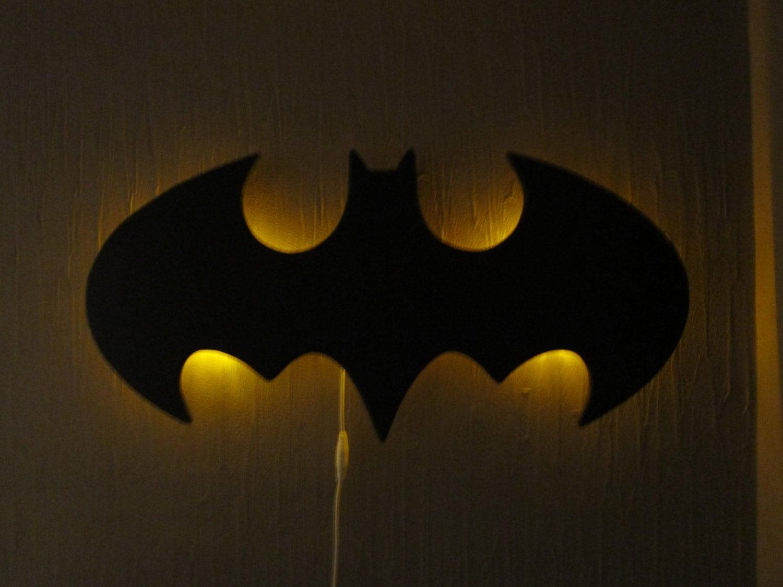 Batman Logo Wall hanging night lamp