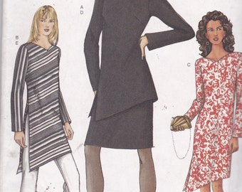 Vogue 7525 Vintage Pattern Womens Dress, Tunic Top, Skirt and  Pants Size 8,10,12 UNCUT