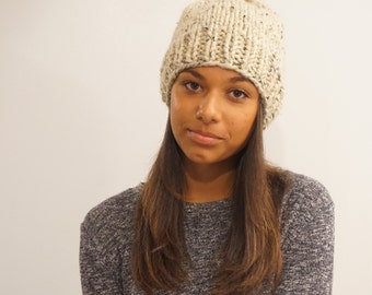 The Frost big and chunky warm hat- oatmeal