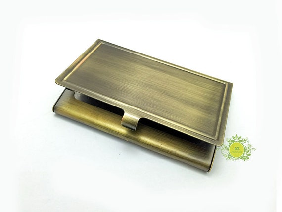 Metal Business Card Holder With Epoxy Sticker Metal Card