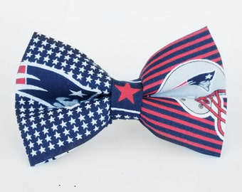 New England Patriots Bow Tie | Boys Bow Tie | Mens Bow Tie | Self Tie | Dog Bow Tie | Football | NFL | Gift for Him | Sports Bow Tie