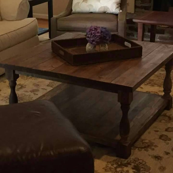 Square Turned Leg Coffee Table By Farrellcustomworks On Etsy