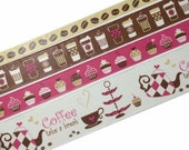 Beautiful Coffee Rolls Of Decorative Paper Tape