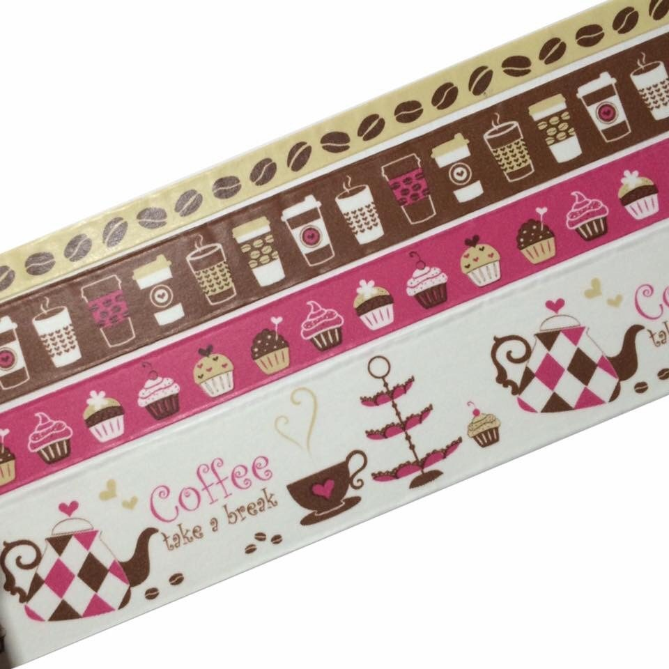 Beautiful coffee rolls of decorative paper tape for Decorative paper rolls