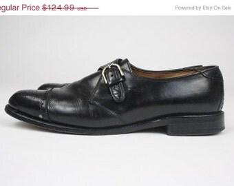 ON SALE Allen Edmonds Hillsboro Cap Toe Woven Leather Loafer Buckle Shoes 10.5 D