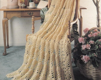 A Year of Afghans Book Two - 12 Designs To Crochet - Vintage Crochet Pattern