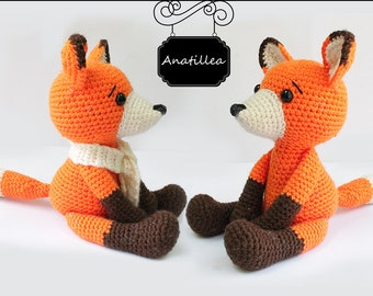 PATTERN :  Fox - Amigurumi fox pattern - Crochet pattern-Knitted Stuffed animals- wild animals-doll-toy-baby shower