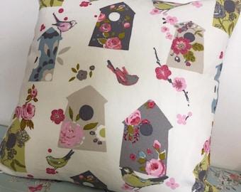 Cushion, Bird Cushion, Shabby Chic Cushion, Cushion Cover