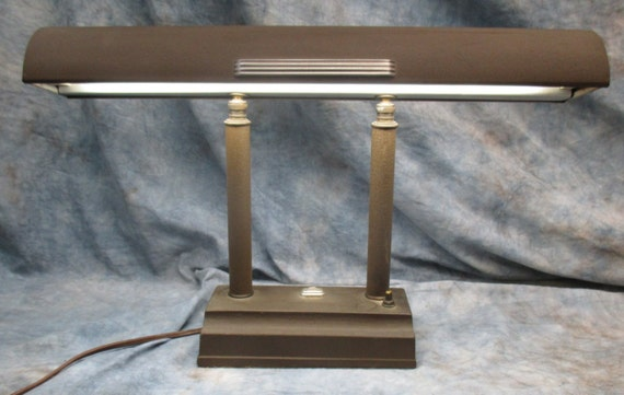 metal desk lamp mid century fluorescent office school study vintage f. Black Bedroom Furniture Sets. Home Design Ideas