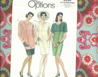 Vogue 8284 Easy Options Misses Dress, Tunic and Skirt Pattern Complete and Uncut Misses Size 6-8-10
