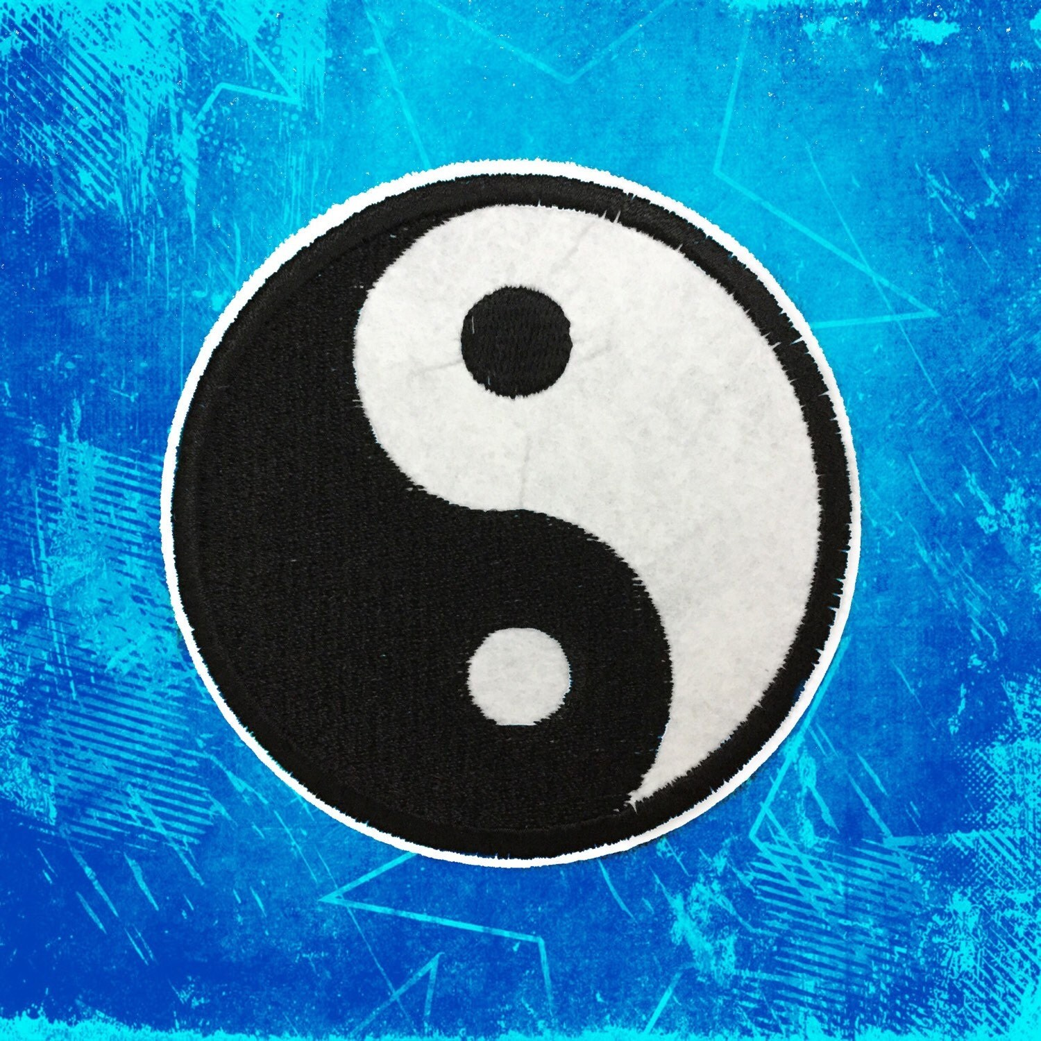 Punk Patch Tai Chi Yin Yang Symbol Embroidered Patches Iron On