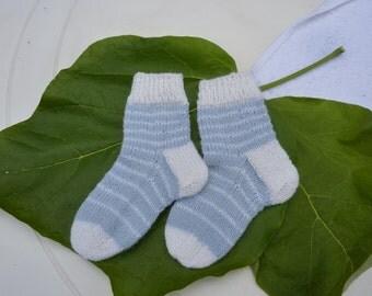 Knitted baby socks, Knit socks children, hand knit socks, socks for girls, socks for boys, knit baby socks soft wool, baby foot wear.