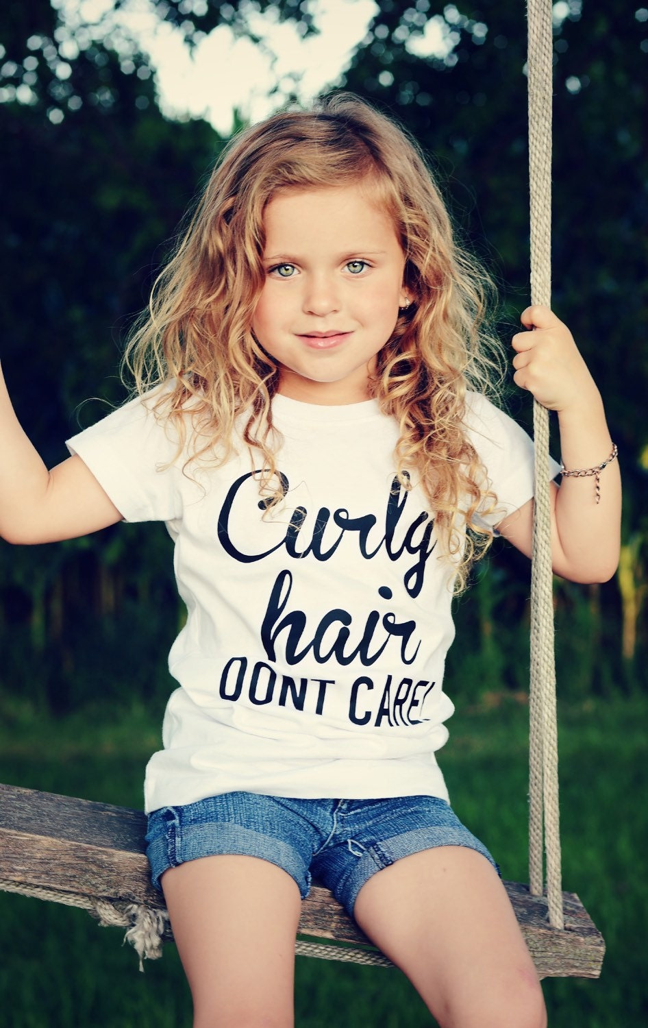 Curly Hair Don T Care Tee Curly Hair Don T Care