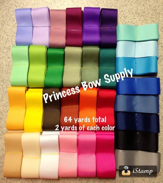 64 yards 7 8 mix grosgrain ribbon 2 yard bundle of each color mixed huge halloween destash. Black Bedroom Furniture Sets. Home Design Ideas