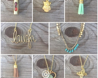 Gold Layering Necklace- Mix and Match