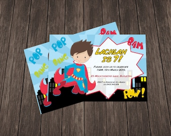 SuperHero Invite - Boy