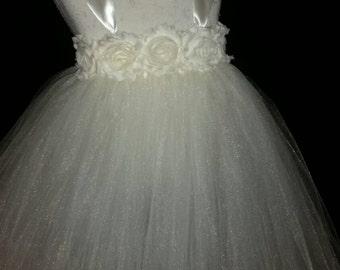 Ivory Tutu Flower Girl Dress/Photo Shoot Dress
