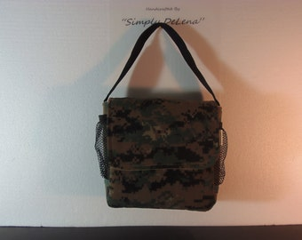 camo toddler lunch box with snack pouch
