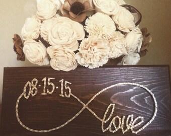 Custom date infinite love string art sign