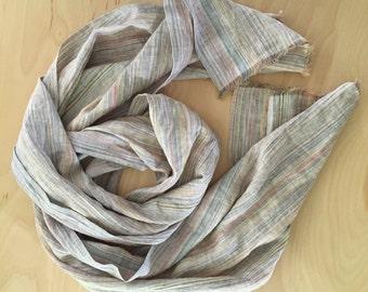 linen scarf, earthy