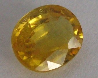 Natural sapphire unheated, untreated yellow  1.21 ct