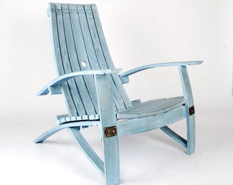 Wine Barrel Chair (Nantucket Blue)