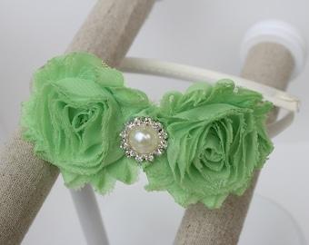 Mint green headband, green girls headband,  girls headbands light green wedding headband toddler headband hard headband mint green