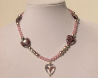 EHMN #17  Charming HEARTS Necklace