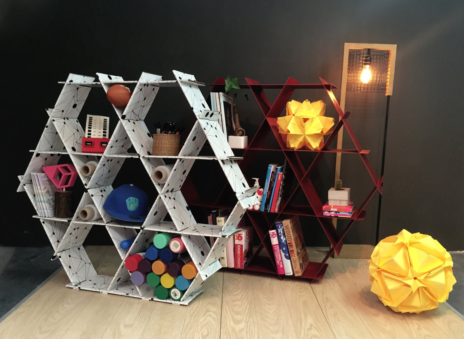 mommy and me furniture Hexagon shelves diy furniture back