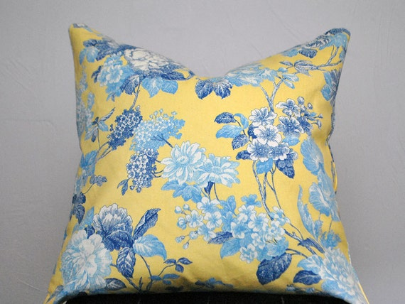 Decorative Pillow Yellow Pillow Cover Cushion Floral Pillow