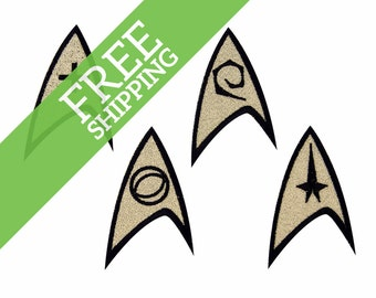 Star Trek Insignia: Command, Science, Engineering or Medical Embroidered Iron On Patch - FREE SHIPPING