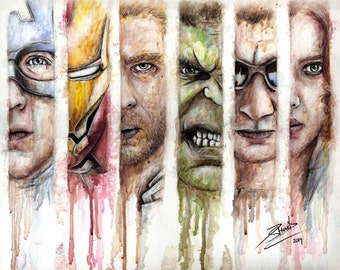 Avengers Marvel Artwork Print