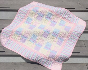 Pastel Baby Girl Quilt