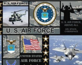 US Air Force 2 Layer Fleece Blanket 48 X 60 inches
