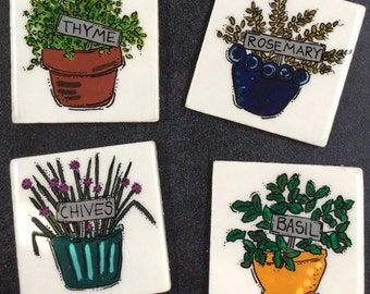 Herb Garden Coasters