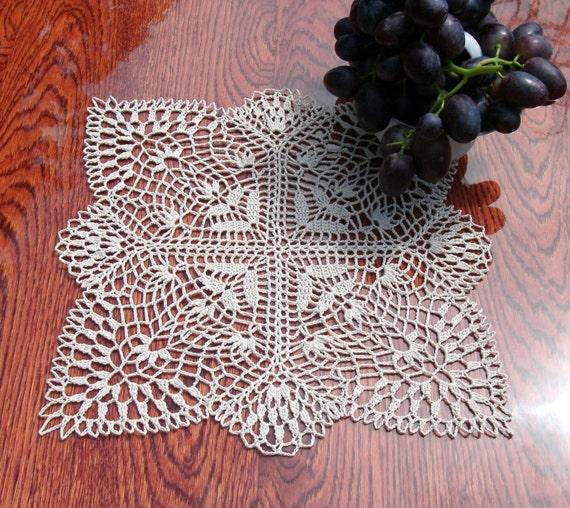 carr 233 au crochet napperon 12 pouces petit napperon crochet