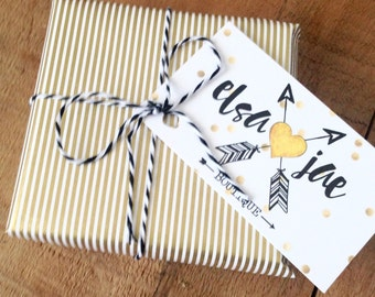 Packaging upgrade! Gift wrap your purchase from Elsa Jae! Heavy duty gild and white wrapping paper with twine. Gift reciept included