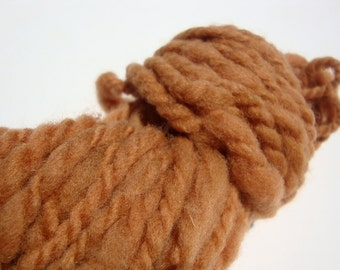 naturally dyed, hand dyed, hand spun, 2-ply wool yarn