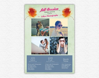 Photography Session advertising Template - Photography Marketing - Photoshop template INSTANT DOWNLOAD