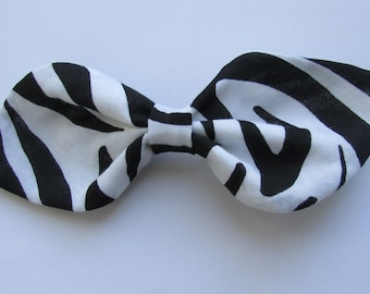 Zebra Print Hair Bow,Girls Hair Bow, Adult Hair Bow,Hair Ornament,Hair Accessories,Teens Hair Bow, Barrettes And Clips,Hair Clip,Fancy Bows