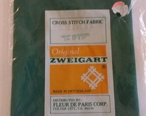 Zweigart Cross Stitch Fabric 22 count 12x17 inches Green