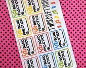 10 Band Practice Planner Stickers