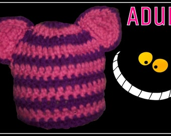 Cheshire Cat Hat or Beanie Adult Size